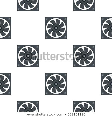Számítógép tápegység ventillátor minta végtelenített terv Stock fotó © natali_brill