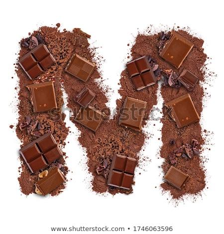 Levél csokoládé szelet darabok izolált fehér étel Stock fotó © grafvision