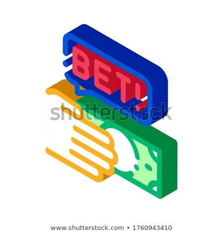 Kéz gyártmány fogadás fogadás hazárdjáték izometrikus Stock fotó © pikepicture