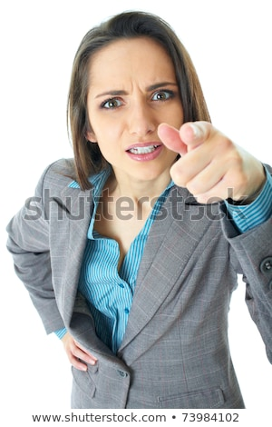 Scolding woman pointing her finger Stock photo © rcarner