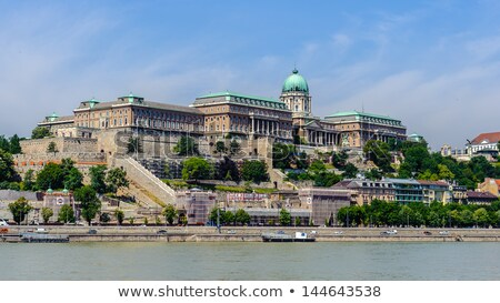 view of Buda castle, Budapest, Hungary from Citadel  stock photo © vladacanon