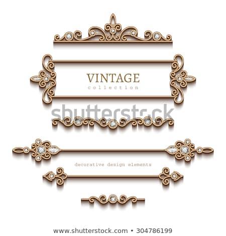 antigua · desplazamiento · establecer · textura · fondo · mail - foto stock © cidepix