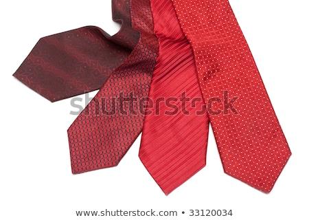 Four male ties, red and crimson Stock photo © RuslanOmega