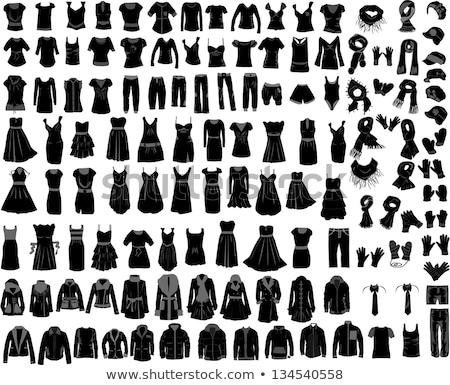 Homme · Homme · vêtements · icônes · vecteur - photo stock © stoyanh