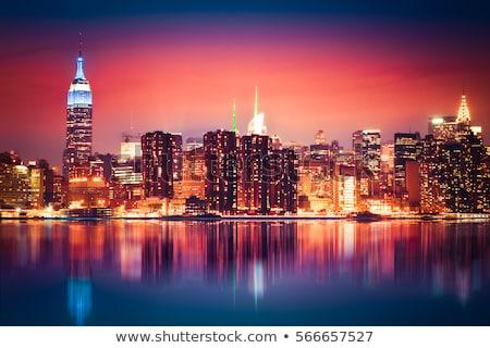 City midtown skyline at dark  Stock photo © cozyta