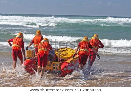 Mar resgatar veículo praia água Foto stock © morrbyte