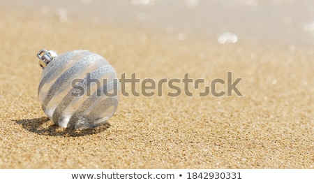 Stock photo: Christmas holiday / Baubles on the tropical beach