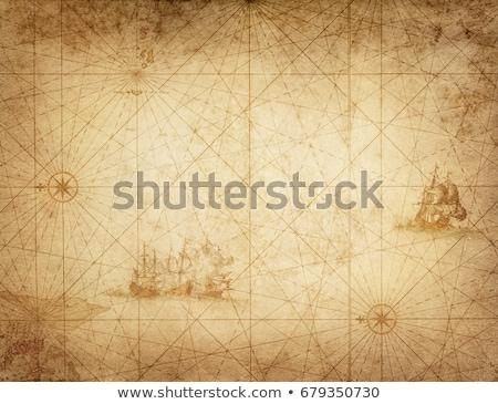 пиратских · выделите · кадр · иллюстрация · бумаги - Сток-фото © hypnocreative