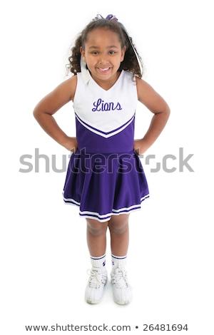 African American Teen Girl Cheerleaders - Naked Photograph-7984