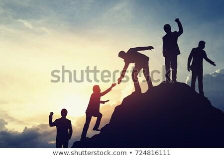 lider · iş · işadamı · yeşil · kurumsal - stok fotoğraf © 4designersart