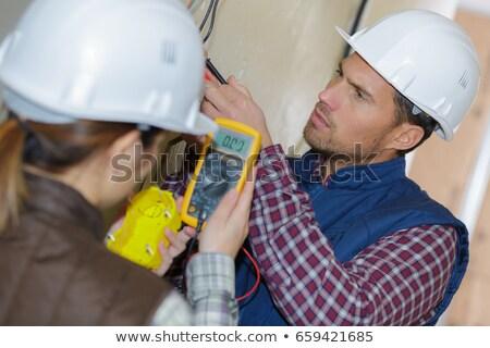 электрические · вольтметр · ампер · промышленности · машина · схеме - Сток-фото © photography33