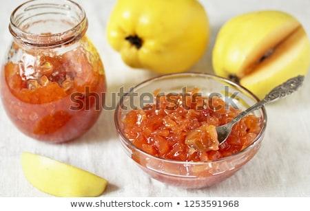 Jam груши изолированный белый природы стекла Сток-фото © adamr