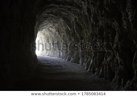 Barlang belső keskeny természetes természet háttér Stock fotó © sirylok