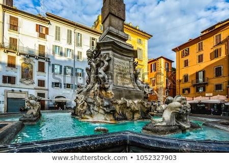 fountain on piazza della rotonda in rome italy stock photo © vladacanon
