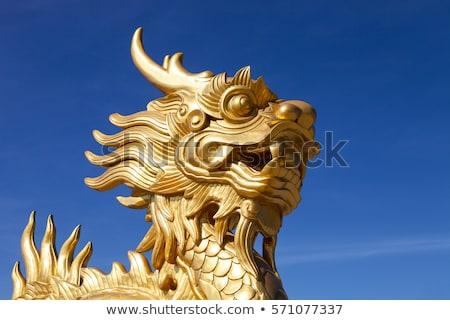 中国のドラゴン · 像 · 寺 · 旅行 · 石 · アーキテクチャ - ストックフォト © leungchopan