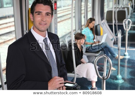 ticket collector in tramway Stock photo © photography33