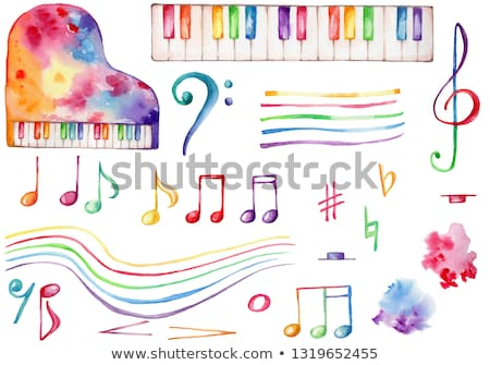 the rainbow piano stock photo © fotovika
