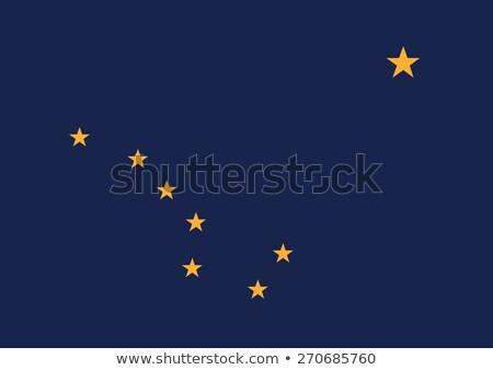 Alasca bandeira grande ilustração EUA bandeira Foto stock © tony4urban