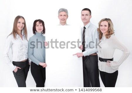 działalności · banner · starszy · kobieta · interesu · szczęśliwy · stałego - zdjęcia stock © stockyimages