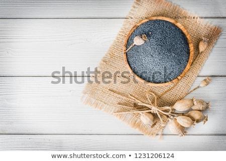 Poppy seeds and poppy heads  Stock photo © joannawnuk