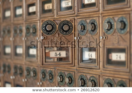 Old Fashioned Post Office Boxes Stock photo © pixelsnap