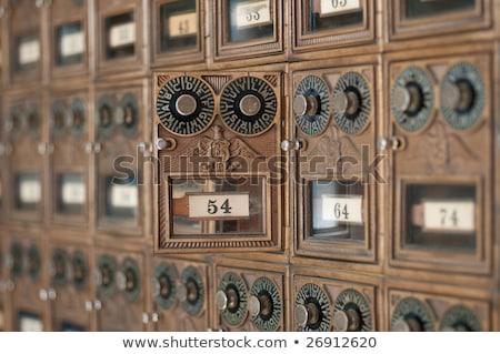 antiquado · correios · caixas · latão - foto stock © pixelsnap