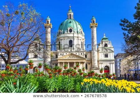 beautiful baroque karlskirche church in vienna austria stock photo © vladacanon