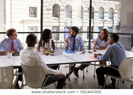 Attentive workers in business meeting Stock photo © photography33