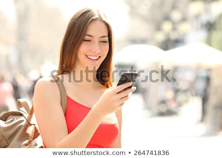 Busy young student woman Stock photo © broker