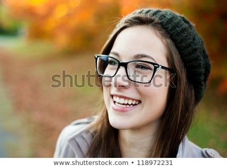 Intelligent woman wearing glasses Stock photo © stryjek