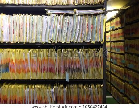 Controlar documento dois textura de madeira segurança Foto stock © silent47