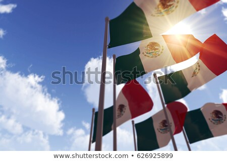banderą · Meksyk · wiatr · wysoko · szczegółowy - zdjęcia stock © marinini