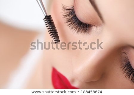 fille · cil · mascara · isolé · blanche - photo stock © photography33
