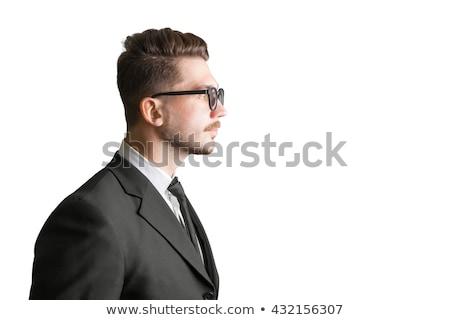 şık · iş · adamı · adam · karanlık - stok fotoğraf © stockyimages