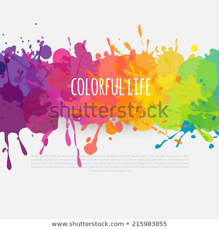color · pintura · salpicaduras · gradiente · vector - foto stock © Designer_things