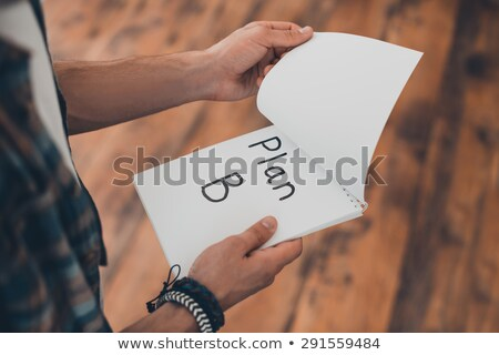 hand holding up the letter B from the top Stock photo © stryjek