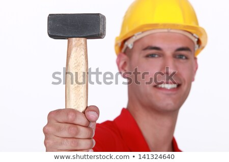 Close-up of mason with lump mallet Stock photo © photography33