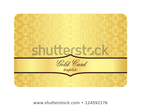 Luxury Golden Card with Inscribed Vintage Pattern stock photo © liliwhite
