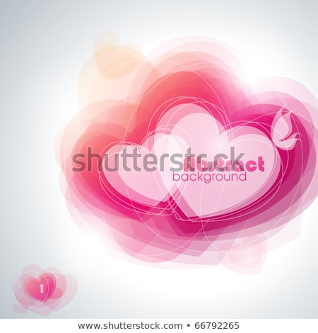 Background With Space For Text With Abstract Hearts Photo stock © ussr