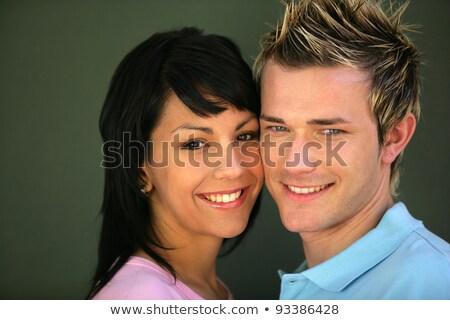 Couple stood cheek to cheek Stock photo © photography33