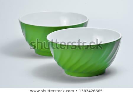 Műanyag mikró tál tányér közelkép izolált Stock fotó © ziprashantzi
