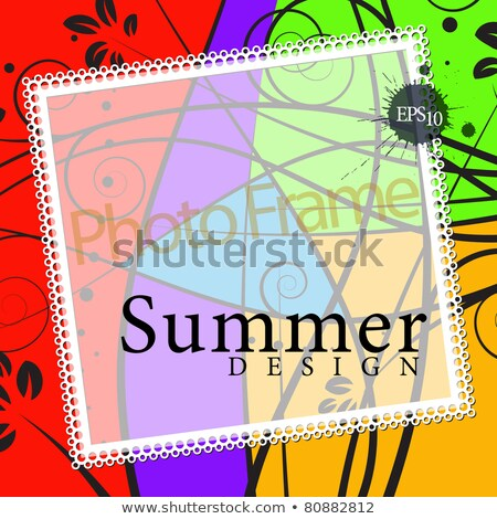 Margarida cartão instantâneo geométrico papel Foto stock © marimorena