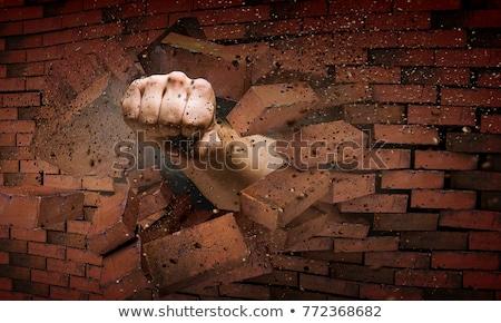 Törik megoldás válasz siker lefelé falak Stock fotó © Lightsource
