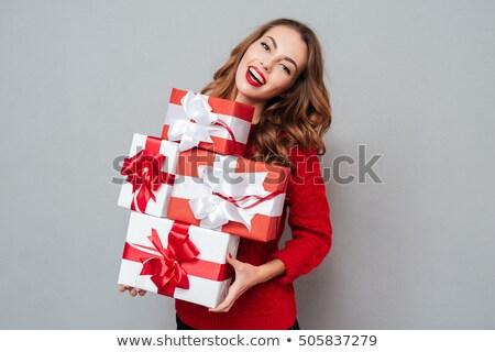 женщину многие представляет привлекательный подарки Сток-фото © Pasiphae