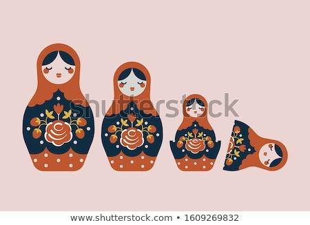 русский · кукол · семьи · изолированный · белый - Сток-фото © eldadcarin