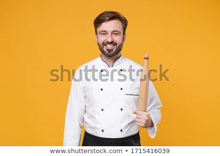 Chef fora pino do rolo maduro masculino Foto stock © wavebreak_media