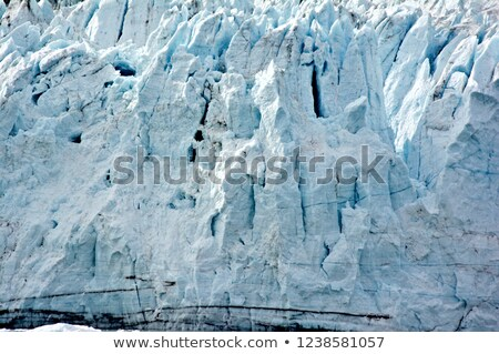 Cracks and crevices in glacier wall, Glacier Bay Natinal Park, A Stock photo © snyfer