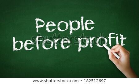 People Before Profit Chalk Illustration Stock photo © kbuntu