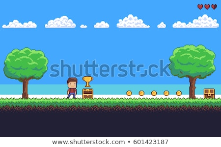 Seamless game character background Stock photo © PiXXart