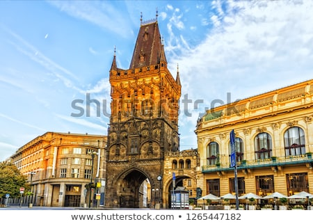 Towers in Prague Stock photo © elxeneize